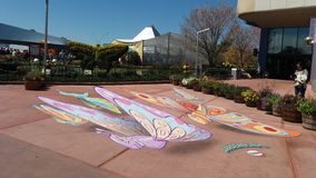Butterfly art. Epcot flower garden festival Royalty Free Stock Images