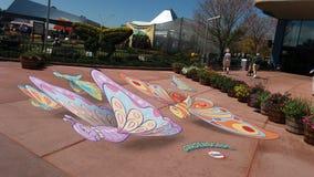Butterfly art. Epcot flower garden festival royalty free stock photo