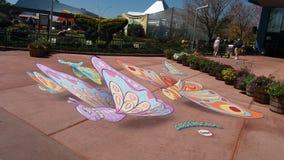 Butterfly art. Epcot flower garden festival stock image