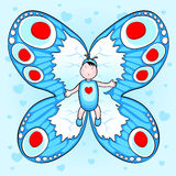 Butterfly baby royalty free stock photo