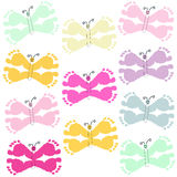Butterfly with baby foot prints pattern background Royalty Free Stock Images