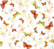 Butterfly background stock images