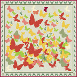Butterfly background. Vector illustration with colored butterfly - background Royalty Free Stock Photo