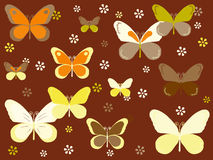 Butterfly background. Colorful background with butterflies and flowers for kids Royalty Free Stock Image