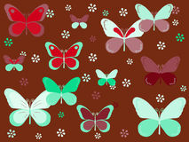 Butterfly background. Colorful background with butterflies and flowers for kids Stock Photos