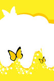 Butterfly background. Nature yellow sky background around butterflies Stock Photos