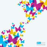 Butterfly Background. A colourful background with butterflies Royalty Free Stock Photography