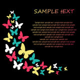 Butterfly background design. Stock Images