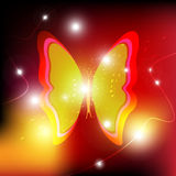 Butterfly background design. Glowing Butterfly background design illustration Royalty Free Stock Photography