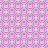 Butterfly background floral seamless pattern Royalty Free Stock Images