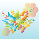 Butterfly background. Illustration with beautiful butterfly Royalty Free Stock Photo