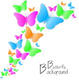 Butterfly background Stock Photography