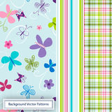 Butterfly Background Pattern Royalty Free Stock Photos