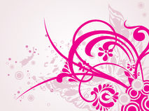 Butterfly background with pink floral Stock Images