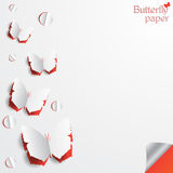 Vector illustration of butterfly paper cut out greeting card designs Royalty Free Stock Image