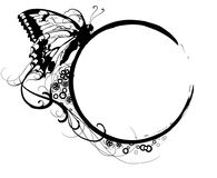 Butterfly banner_1 Royalty Free Stock Photo