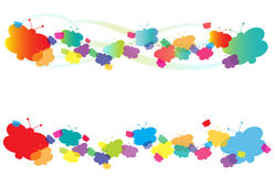 Butterfly banner. Vector brightly colored butterfly banner variations Stock Images