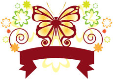 Butterfly Banner Royalty Free Stock Photography