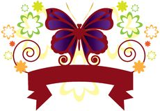 Butterfly Banner Stock Image