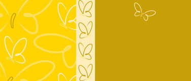 Butterfly Banner Stock Photography