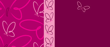 Butterfly Banner Stock Photo