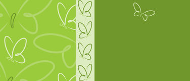 Butterfly Banner Royalty Free Stock Images