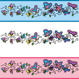 Butterfly Banner Set Stock Photo