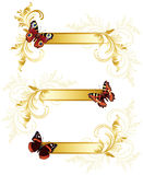 Butterfly banners Royalty Free Stock Photos