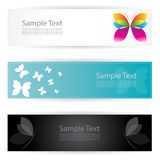Butterfly banners Royalty Free Stock Photo