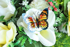 Butterfly beautiful  artificial for decorative Royalty Free Stock Photo