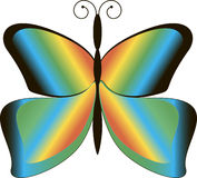 Butterfly. With beautiful, bright, multi-colored wings Stock Photography