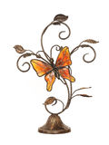 Butterfly. Beautiful ornament for the house on a white background Royalty Free Stock Image