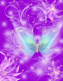 Butterfly. Beautifull gentle fragile butterfly violet Stock Image