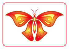 Butterfly beauty colorful sign neon 2 Royalty Free Stock Photography