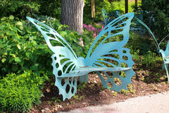 Butterfly Bench Stock Photo