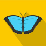 Butterfly with big wings icon, flat style Royalty Free Stock Photo