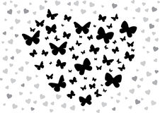 Butterfly black Stock Photo