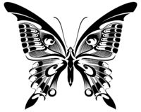 Butterfly Black & White silhouette design royalty free illustration