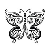 Butterfly black and white tattoo style Royalty Free Stock Images