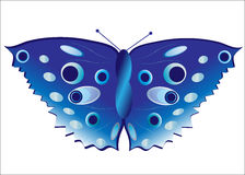 Butterfly in Blue Royalty Free Stock Photo