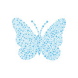 Butterfly in blue design Royalty Free Stock Photography