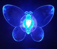 Butterfly blue. Light Stock Photo