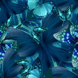 Butterfly 05 blue Royalty Free Stock Image