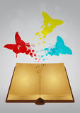 Butterfly book Royalty Free Stock Images