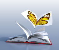 Butterfly book vector illustration
