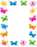 Butterfly border Royalty Free Stock Photos