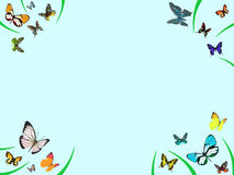 Butterfly border Royalty Free Stock Photography