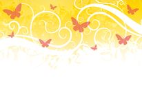 Butterfly Border Gold Red Stock Images