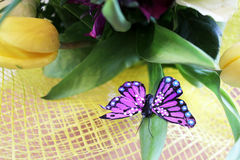 Butterfly on a bouquet Royalty Free Stock Images