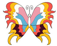 Butterfly bright picture  different colors. Butterfly bright picture isolated different colors Royalty Free Stock Image